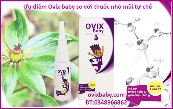Ovix giúp hết ngạt mũi ở trẻ sơ sinh đặc biệt từ thiên nhiên không kháng sinh
