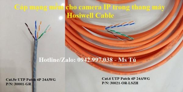Patch Cable / Cáp mạng mềm cho camera IP trong thang máy
