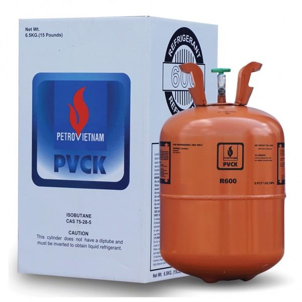 Phân phối gas lạnh R600 loại 6.5kg/b