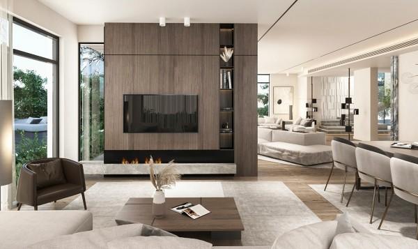 Phòng khách biệt thự với thiết kế hiện đại bậc nhất