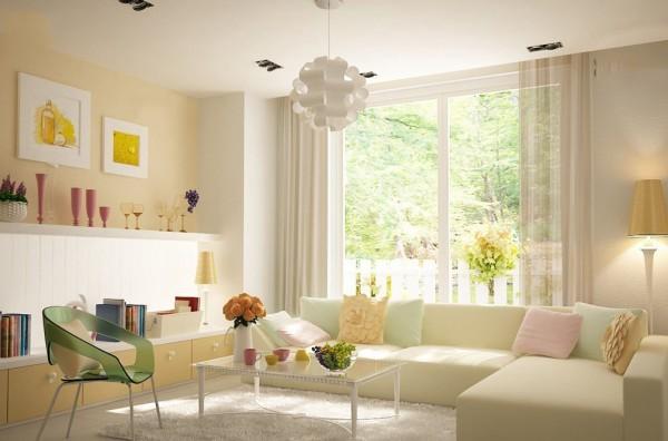 Phòng khách lung linh và rực rỡ hơn
