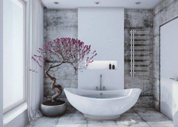 Phòng tắm được bài trí nhã nhặn và tinh tế