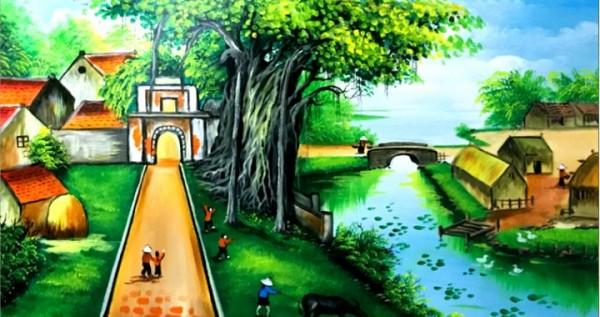 Phù điêu phong cảnh -Phù điêu hồ thiên nga