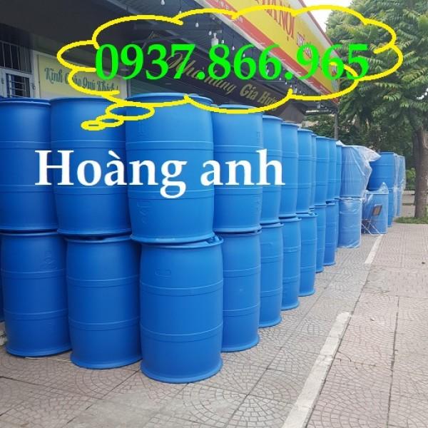 Phuy nhựa nắp kín 220l, phuy nhựa tại hà nội, giá phuy nhựa