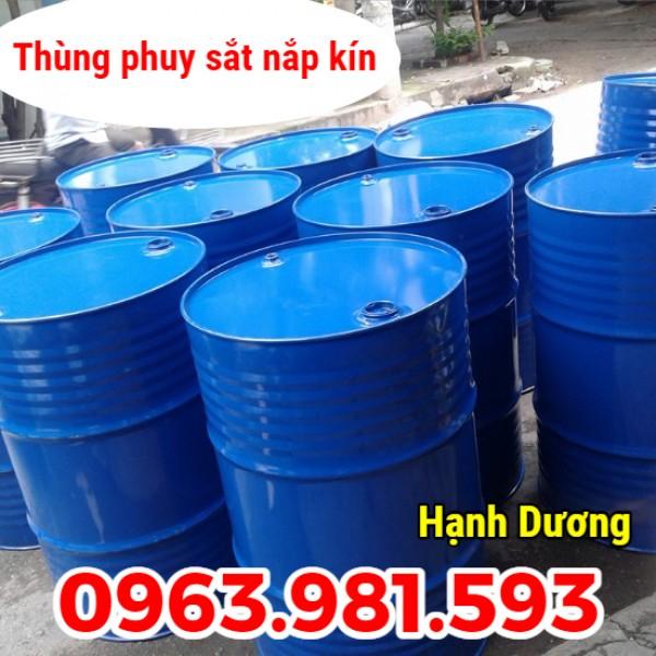 Phuy sắt nắp kín, phuy đựng xăng dầu, phuy 220L