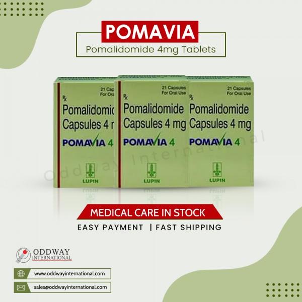 Pomavia 4mg Capsule trực tuyến   Thuốc điều trị ung thư Pomavia 4mg Capsule với giá thấp nhất