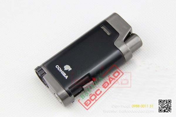 Quà biếu sếp nam cao cấp: bật lửa xì gà Cohiba 2 tia H079