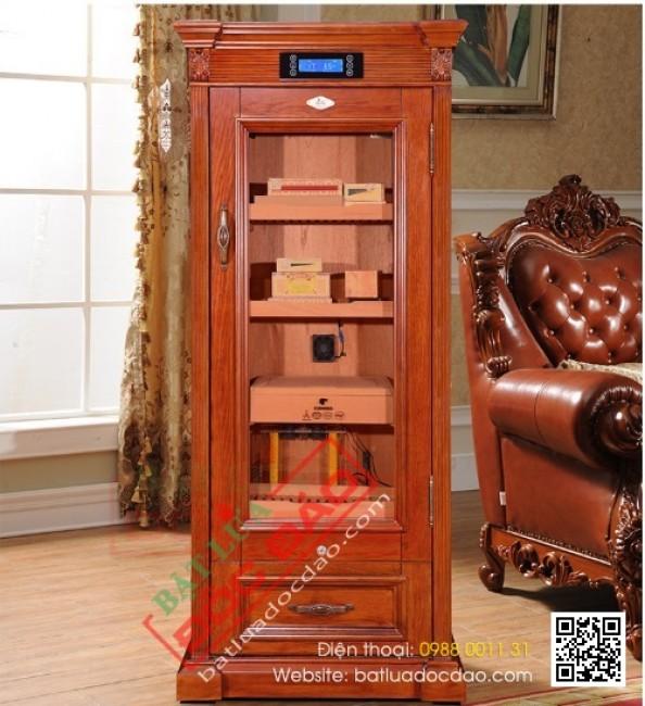 Quà biếu sếp nam, tủ giữ ẩm xì gà Cohiba điện 600 đến 800 điếu