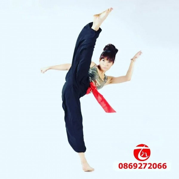 quần tập võ thuật ống bó - trung nghĩa sport