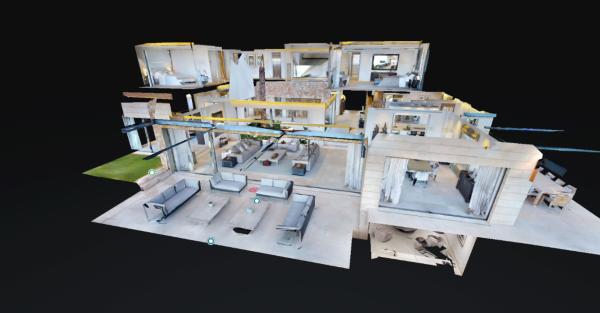 Quảng bá căn hộ mẫu bằng công nghệ thực tế ảo.