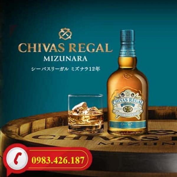 Rượu Chivas 12 Nhật Bản, rượu Chivas Mizunara 700ml