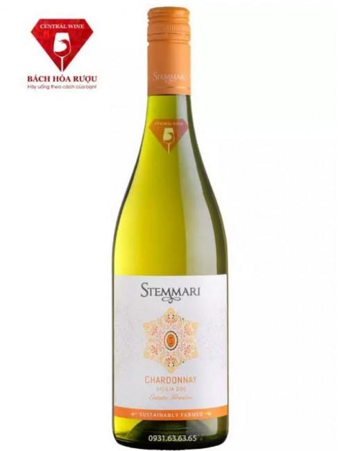 Rượu vang Ý Stemmari Chardonnay Sicilia DOC