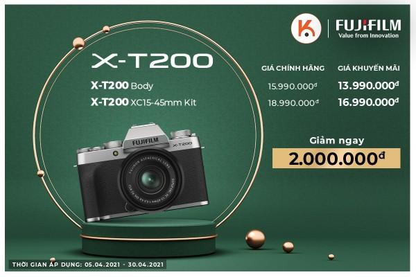 Sale sập sàn sản phẩm máy ảnh Fujifilm X-T200 chính hãng tại Kyma