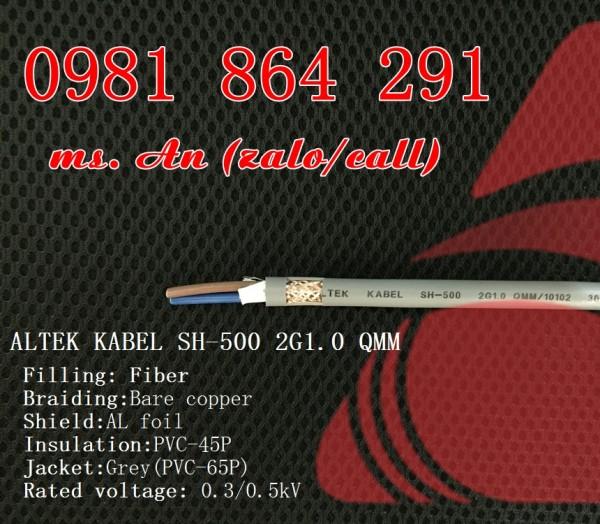 Sẵn kho số lượng lớn cáp điều khiển 2 lõi CT500,SH500 tiết diện 0.5 đến 1.5mm2