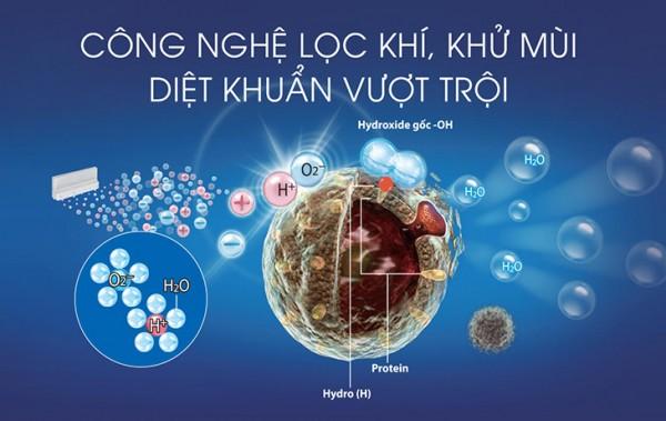 Sản phẩm có khả năng thanh lọc bụi bẩn, vi khuẩn, nấm mốc