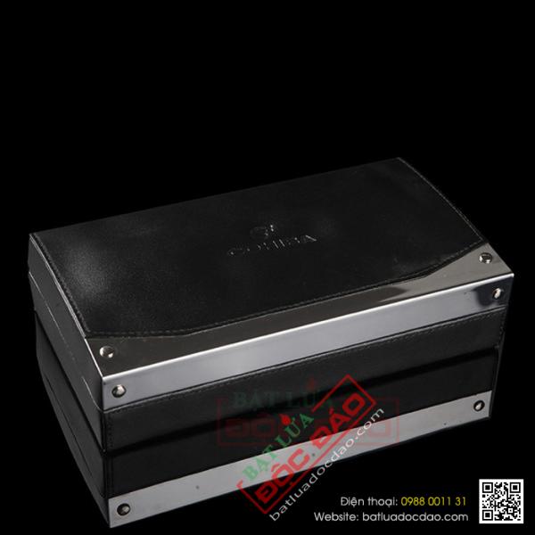 Set hộp giữ ẩm xì gà 4 điếu kèm dao cắt xì gà Cohiba T026