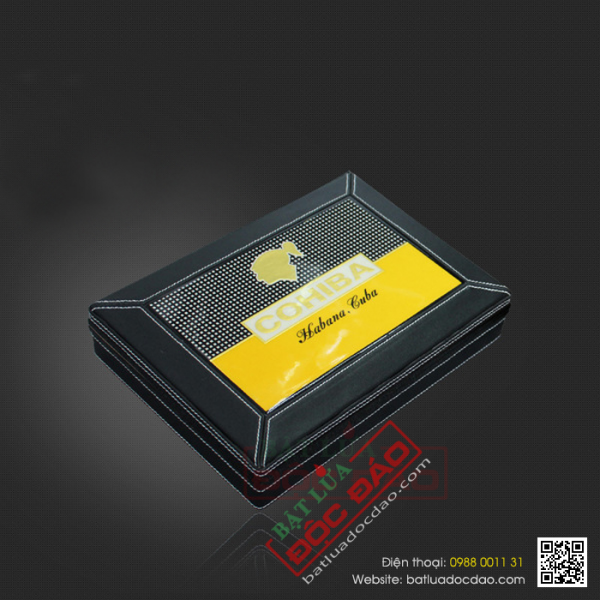 Set phụ kiện xì gà Cohiba T12G: hộp đựng, bật lửa, dao cắt