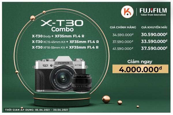 Slae mạnh sản phẩm Fujifilm X-T30 chưa từng có tại Kyma trong tháng 4 này