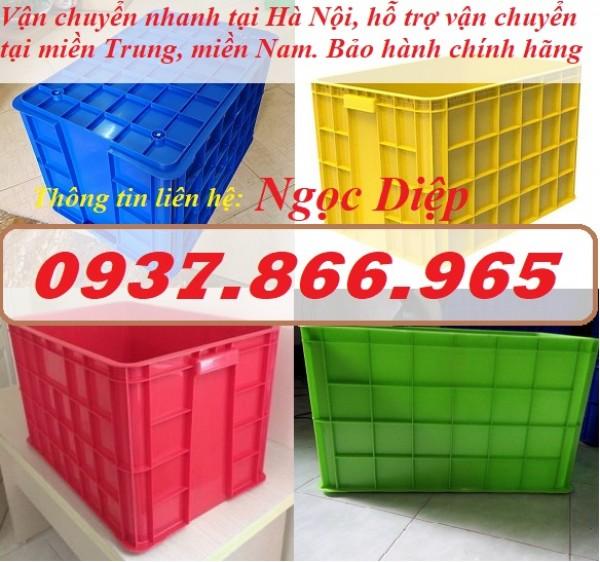 Sóng nhựa bít HS026, thùng nhựa công nghiệp cao 39