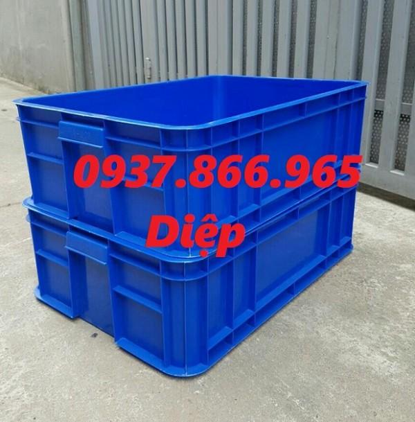 Sóng nhựa công nghiệp HS003, thùng nhựa đặc có nắp