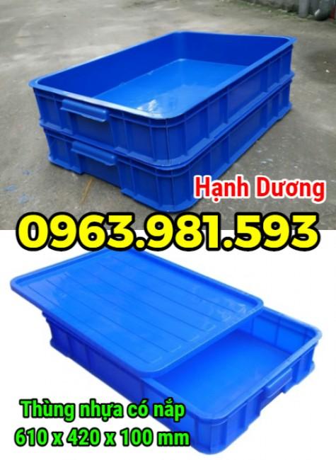 Sóng nhựa HS025, thùng nhựa có nắp, hộp nhựa