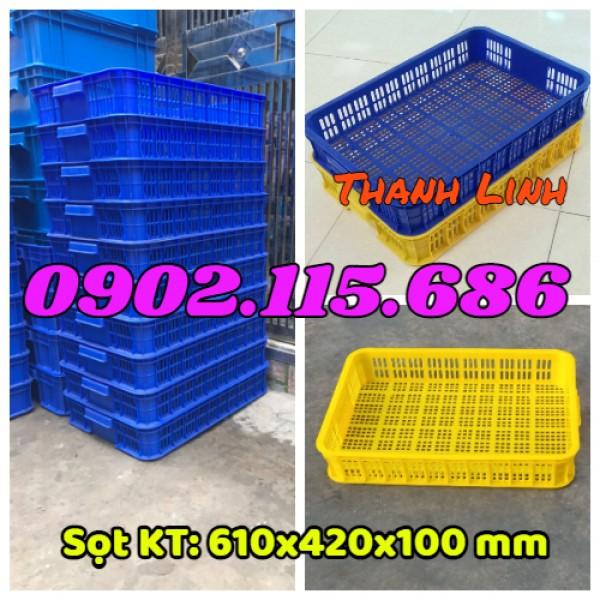 Sóng nhựa rỗng, sọt nhựa hở,sọt nhựa HS010