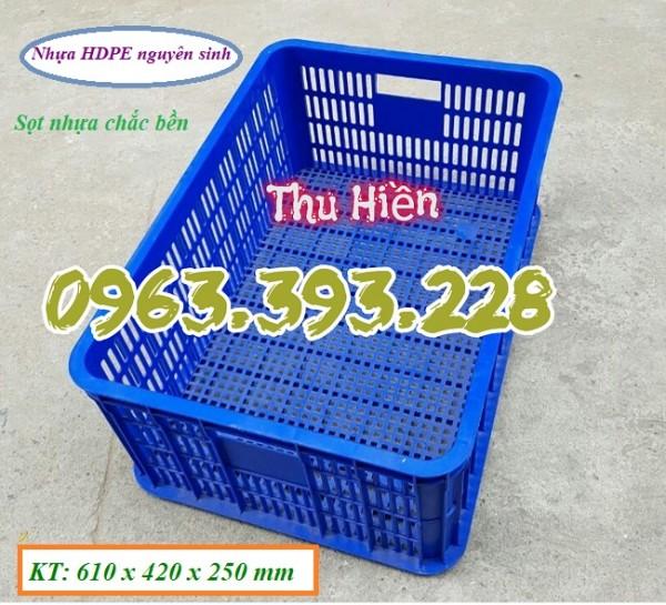 Sọt nhựa rỗng cao 25, sọt nhựa công nghiệp giá rẻ, sọt nhựa HS014, sọt đựng hàng hóa