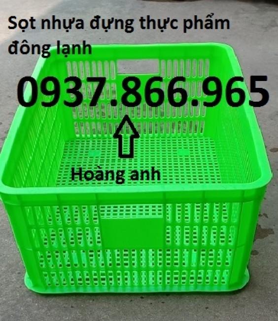 Sọt nhựa rỗng cao 25cm, khay nhựa nguyên sinh, sọt nhựa đựng thực phẩm