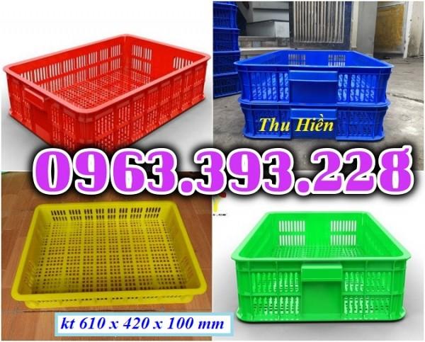 Sọt nhựa rỗng, sọt nhựa công nghiệp, sọt nhựa HS 010, sọt đựng trái cây, sọt đựng đồ trong siêu thị