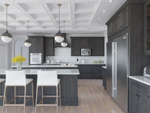 Sử dụng màu sắc tương phản giúp căn bếp ấn tượng hơn