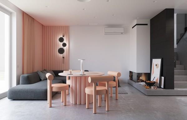 Sự kết hợp màu sắc ngọt ngào trong căn hộ