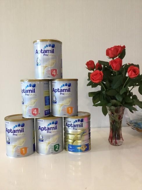 Sữa Aptamil Úc mẫu mới các số 1,2,3,4 thay đổi như thế nào?