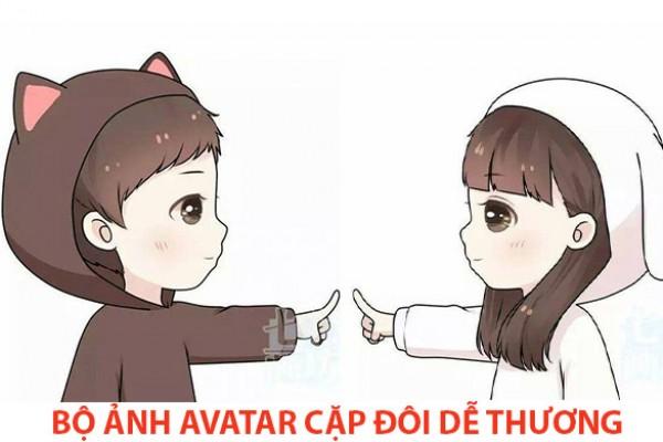 Tải hình ảnh Avatar cặp đôi dễ thương cute đậm chất ngầu năm 2020