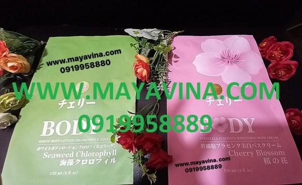 Tắm trắng tinh chất Diệp Lục & Hoa Anh Đào