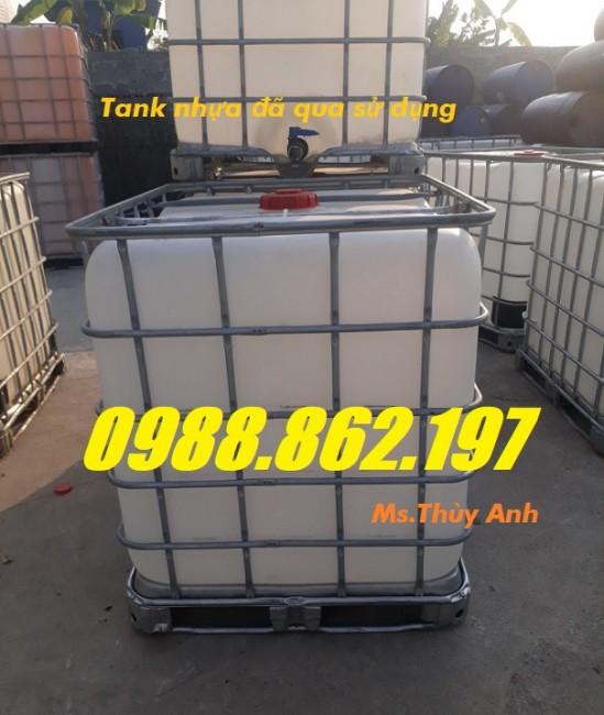 tank IBC, tank nhựa cũ,thùng đựng nước 1000l, bồn nhựa ibc 1000 lít mới,