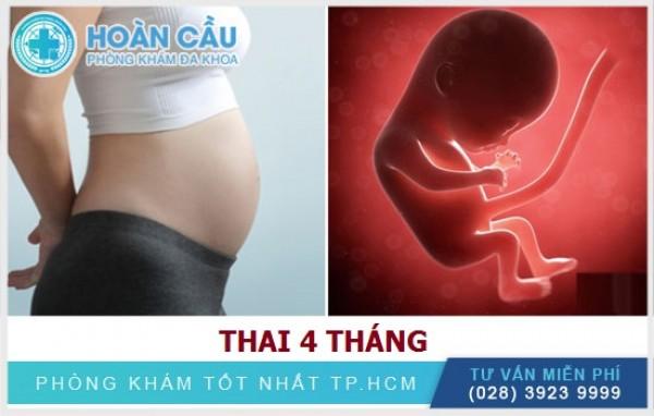 Thai 4 tuần: sự thay đổi ở người mẹ và thai nhi