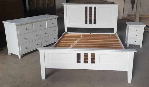 Thanh lý nội thất xuất khẩu tồn kho Bộ giường trắng