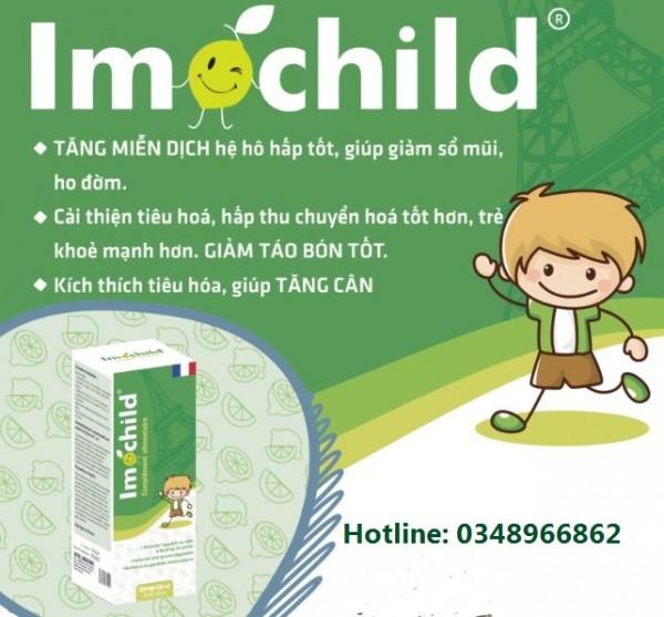 Thành phần siro tăng đề kháng cho trẻ Imochild có BETA GLUCAN