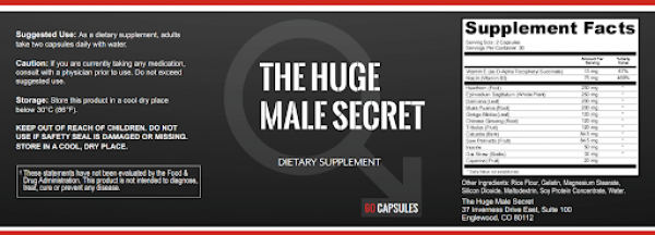 The Huge Male Secret Supplement Review | Updated & Guide 2020