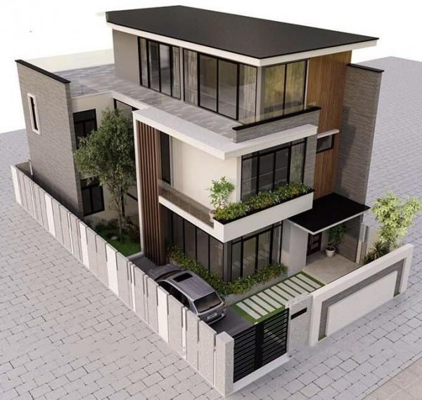 Thiết kế biệt thự 3 tầng hiện đại diện tích 120m2 kèm nội thất sang trọng