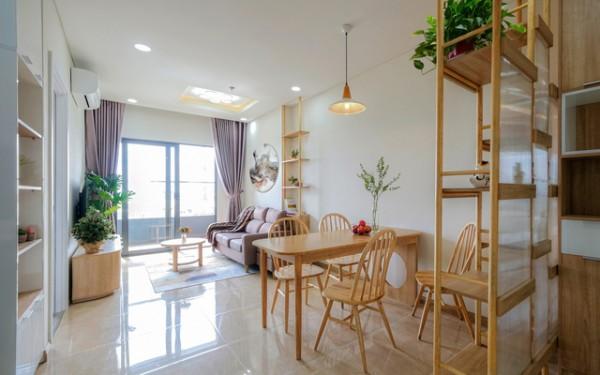 Thiết kế mở giúp tối ưu không gian căn hộ 75m²