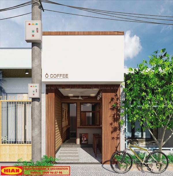 Thiết kế quán cafe nhỏ đẹp tại Cần Thơ – chị Quế