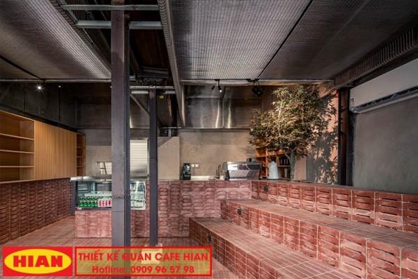 Thiết kế quán cafe tiết kiệm từ gạch cổ Parallel