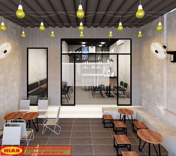 Thiết kế quán cafe trọn gói golden house – Sầm Sơn