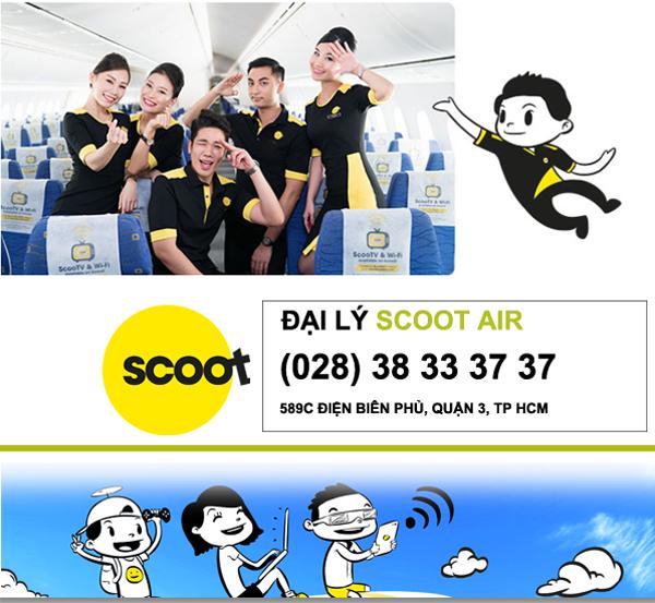 Thông tin vé máy bay đi Singapore tháng 5 - Tháng 6 hãng Scoot Air