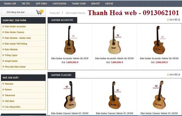 Thu hút khách hàng nhờ thiết kế website nhạc cụ chuyên nghiệp