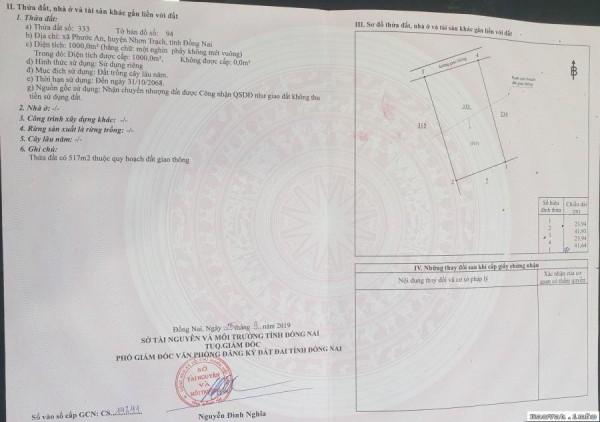Thuận Lộc Cần Bán Đất Nhơn Trạch Chính Chủ - 0941.319.399