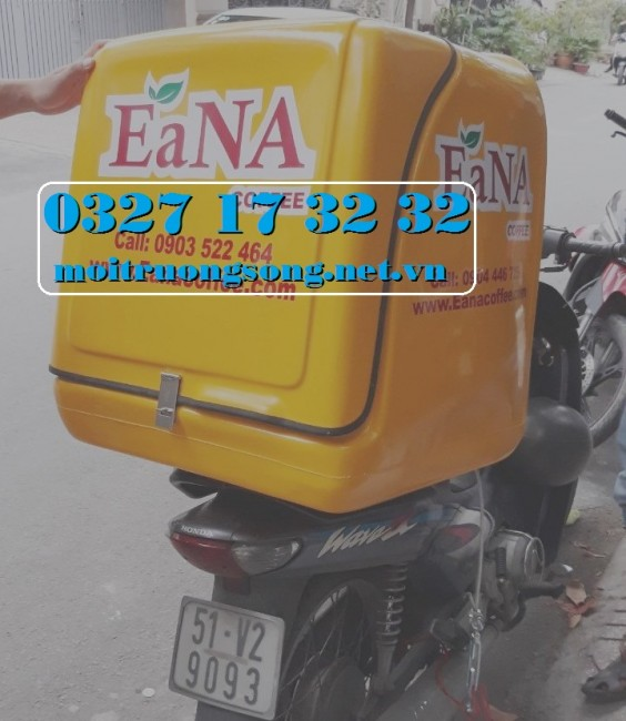 Thùng chở hàng sau xe máy composite giá rẻ chất lượng HCM