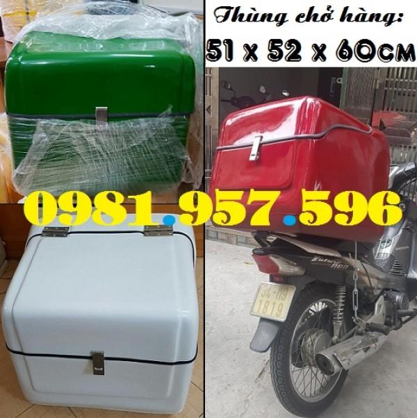 Thùng chở hàng sau xe máy, thùng chở đồ uống