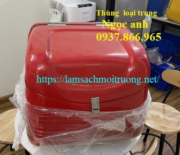 Thùng chở hàng,thùng chở hàng sau xe máy bằng nhựa có dán cách nhiệt